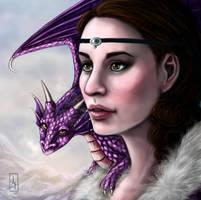 The Witch and her Dragon by AranzazuFernandez