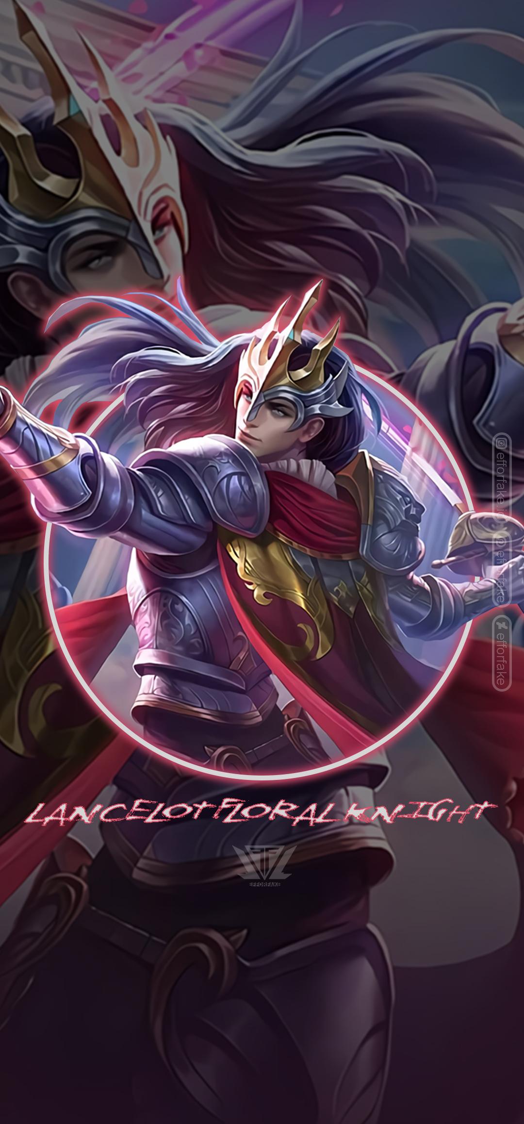 Lancelot Floral Knight Mobile Legends Wallpaper By