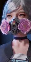 Cyberpunk Girl Gas Mask