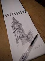Ljubljana - Bell Tower sketch by VITOGH
