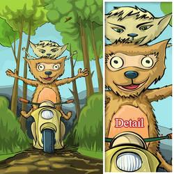 Happy animals by strobegen