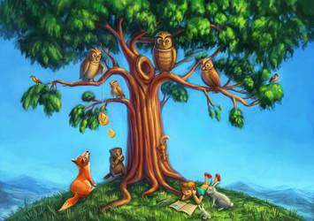 three and animals by strobegen
