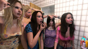 Girls preparing for a night out!