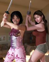 Threatening Katana look - fail!