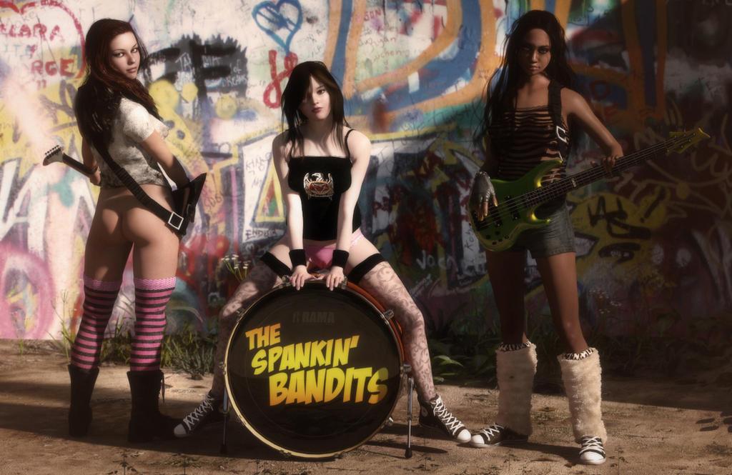The Spankin' Bandits by erogenesisCGI