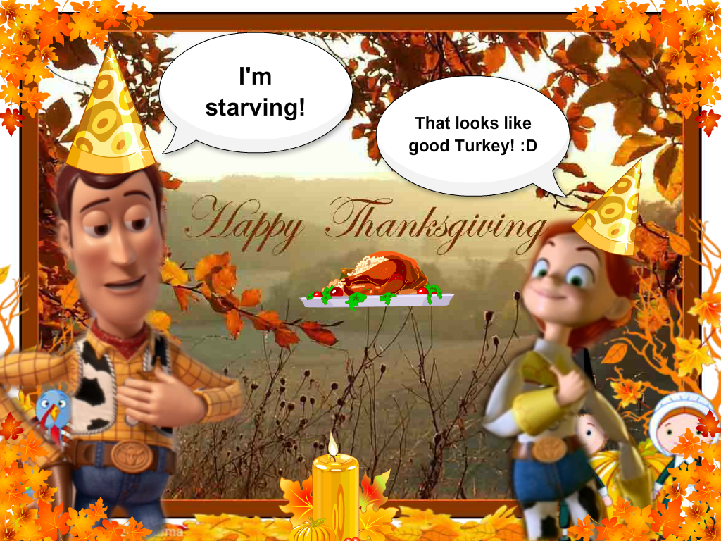 Toy story thanksgiving by spidyphan2 on deviantart