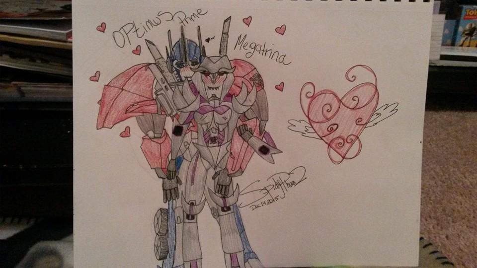 Spidyphan2 Deviantart: Optimus Prime X Megatrina By Spidyphan2 On DeviantArt