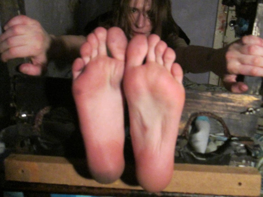 Feet whipping and bastinado of tied honesty cabellero 2