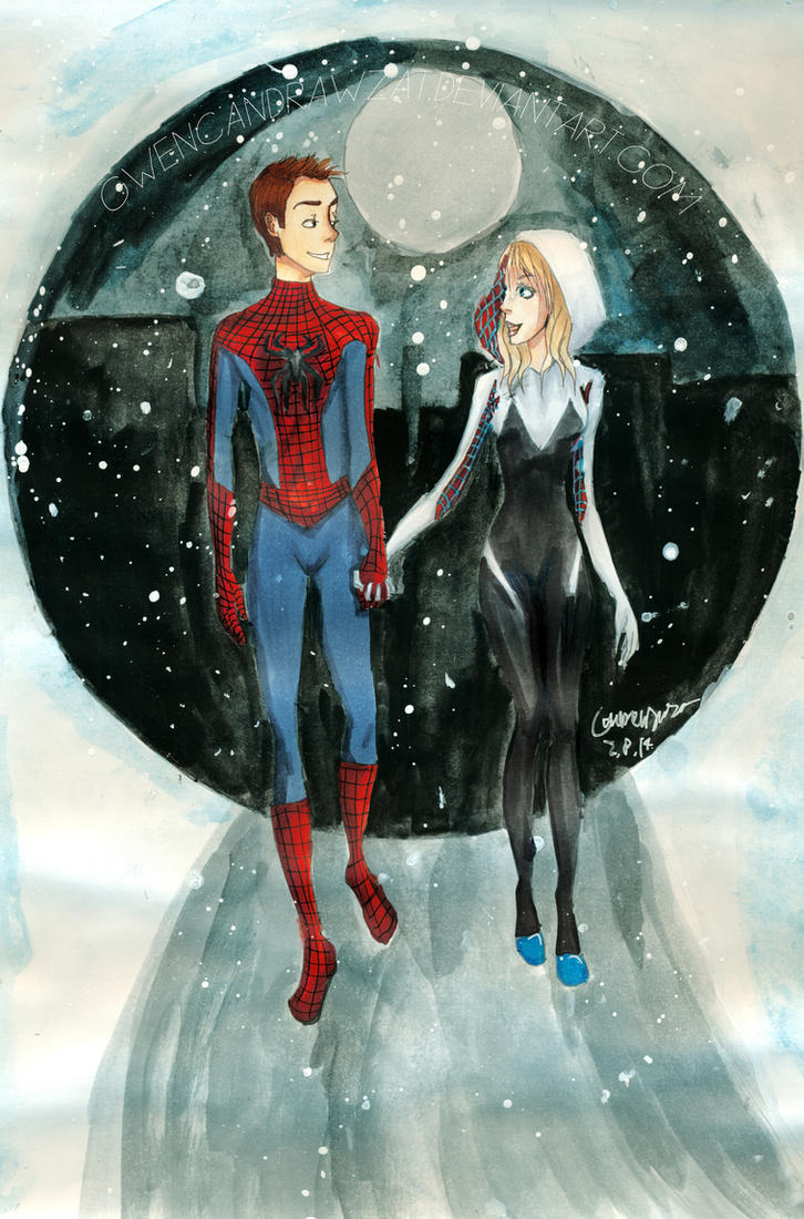 Spidey Couple by GwenCanDrawZat
