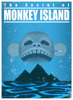 The Secret of Monkey Island - A travel poster by Nemiant