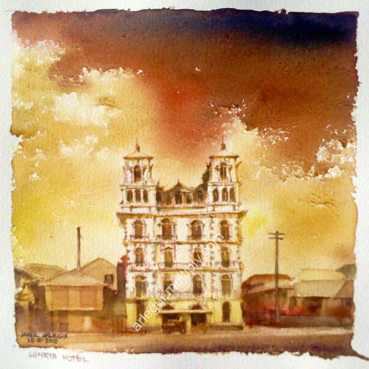 Luneta Hotel circa 1910 by janeilarlegui