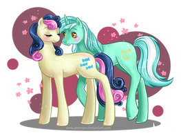 BonBon and Lyra Heartstings by Amenoo