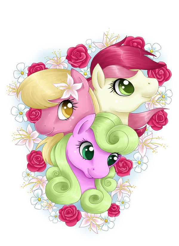 Roses, Lilies and Daisies by Amenoo