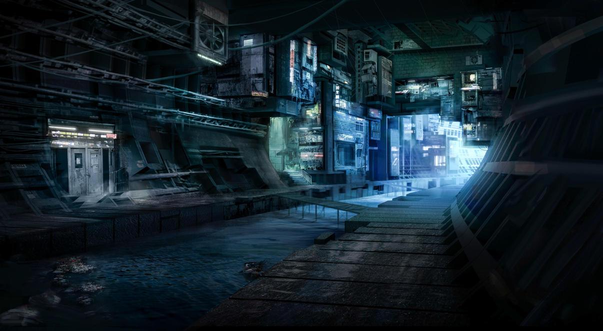 Underground slums by JulesMartinVos