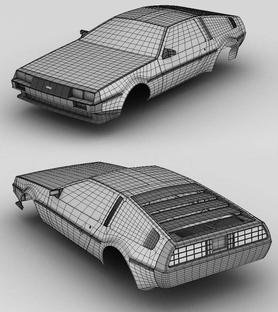 Delorean DMC 12 - outer mesh
