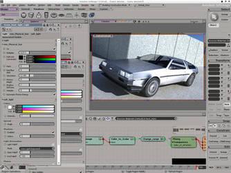 Delorean DMC 12 - quick render by sorriso-dan
