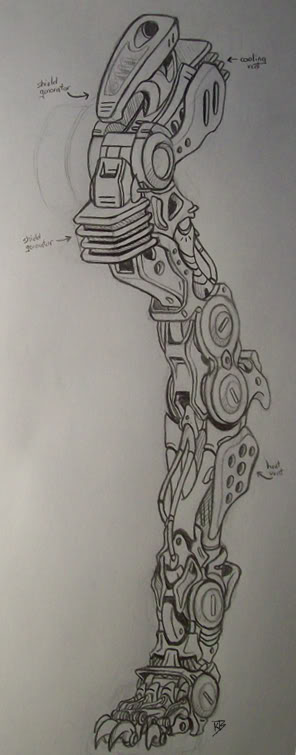 Liger Fore Arm Concept by AuroraLion