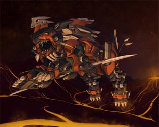 Blazing Hayate by AuroraLion