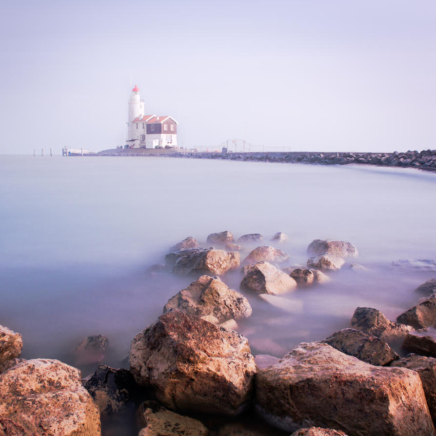 Lighthouse Marken by tvrphotography