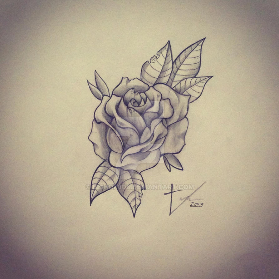 Pencil rose by bishop808
