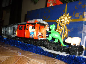 Lego Toy Story 3 Christmas Train 3
