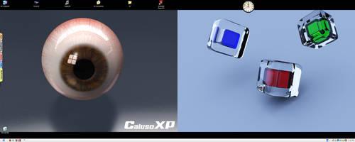 My Current Desktop DUALZ by Caluso