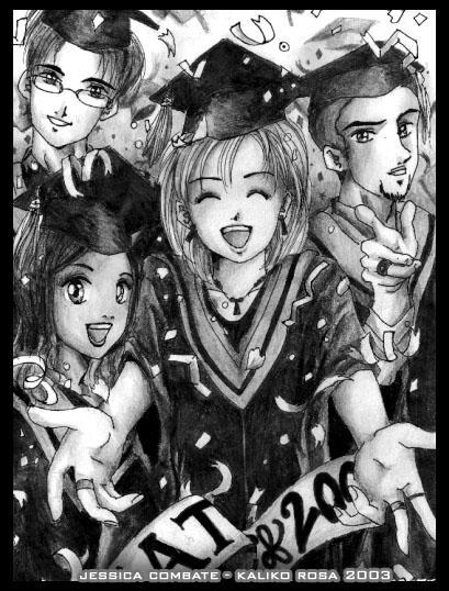 Anime Yearbook: Graduation by kaliko-rosa