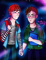 Mike and Max by AnnoyingBunnyX