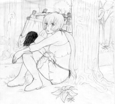 Pretty Sitting Kisa by ebonycalypso
