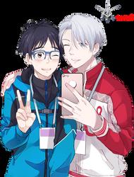 Yuri And Viktor Render [Yuri On Ice] by Zero961221