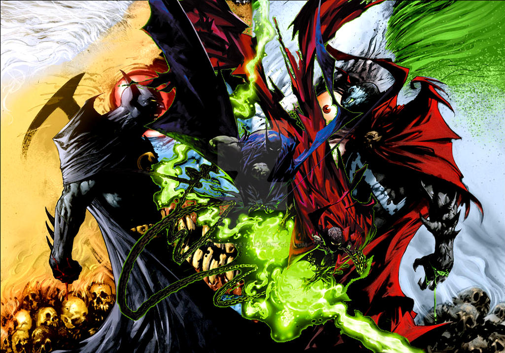 Spawn Vs Batman By Wankerdeath