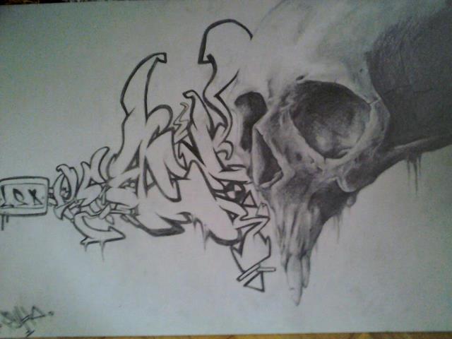 Skull Graffiti by ZnikOne