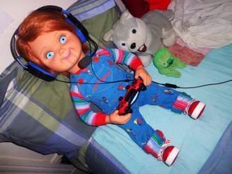 Good Guy Playing PlayStation by FerdieLove