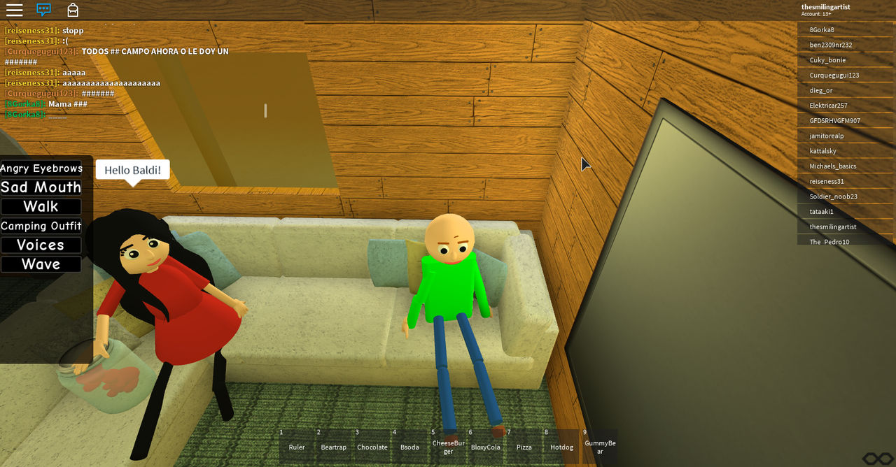 Roblox Share Some Gummy Bears With Baldi By Thesmilingartist On