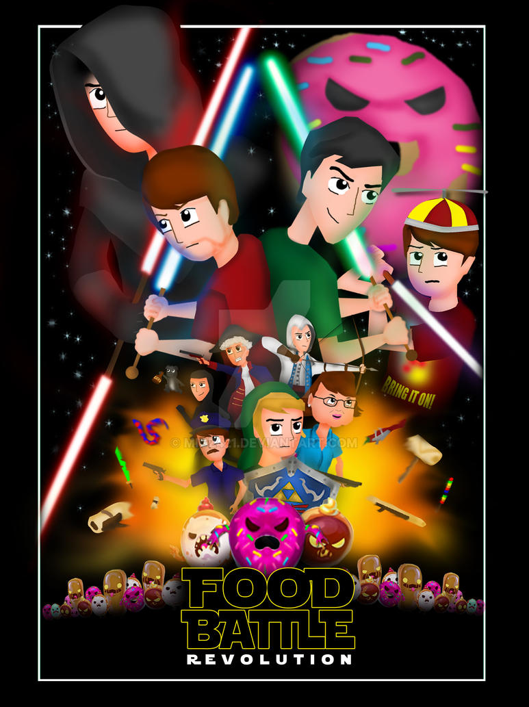 Smoshs Food Battle Revolution Star Wars Poster By Migz421 On