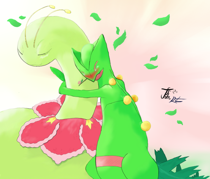 Sceptile and Meganium by RebelliousTreecko on DeviantArt