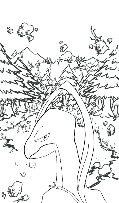 Grovyle - Dusk Forest lineart by RebelliousTreecko