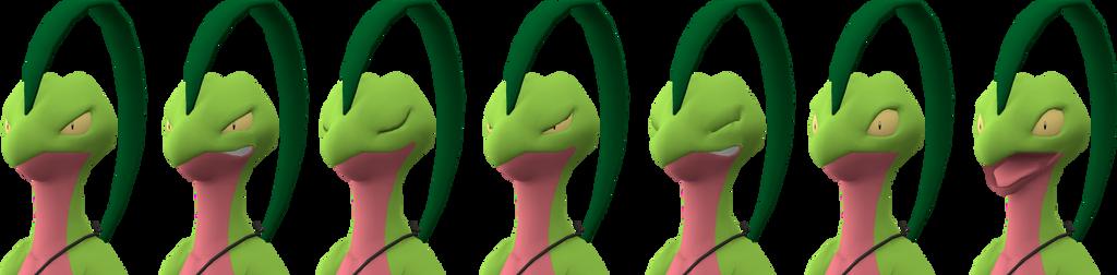 SSB4 Grovyle  expressions by RebelliousTreecko