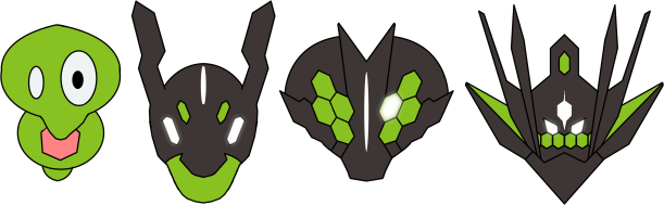 New Zygarde forms by RebelliousTreecko on DeviantArt