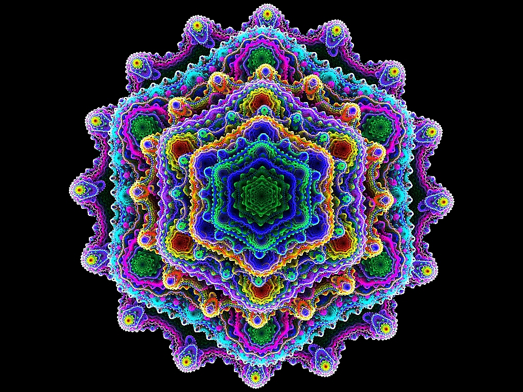 Crochet Patterns Drawing : Fractal Crochet Doily by wolfepaw on DeviantArt