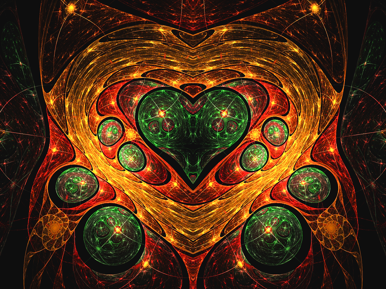 Stained glass christmas heart by wolfepaw on deviantart