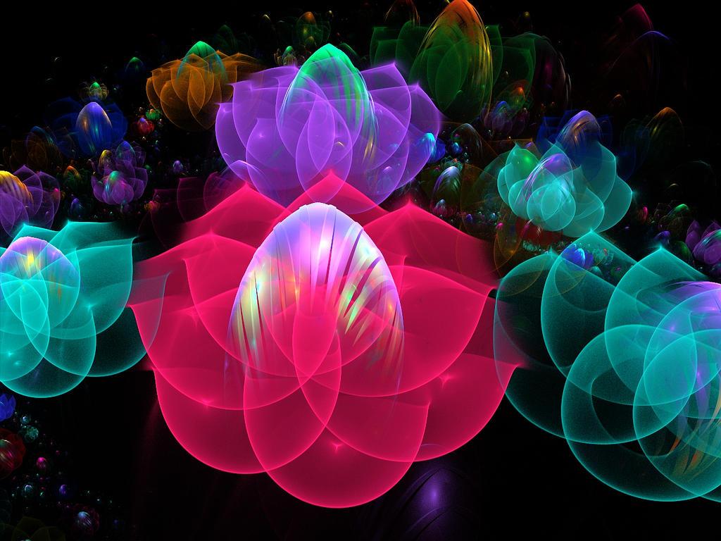 Ipad Wallpaper Little Plant In A Bubble: 3D Bubble Flower Garden By Wolfepaw On DeviantArt
