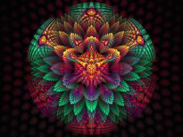 Spiky Rainbow Flower Globe