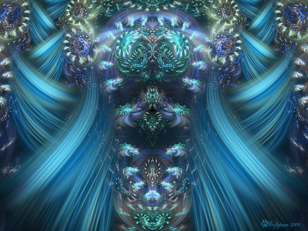 Juliascope Swirls in Blue by wolfepaw