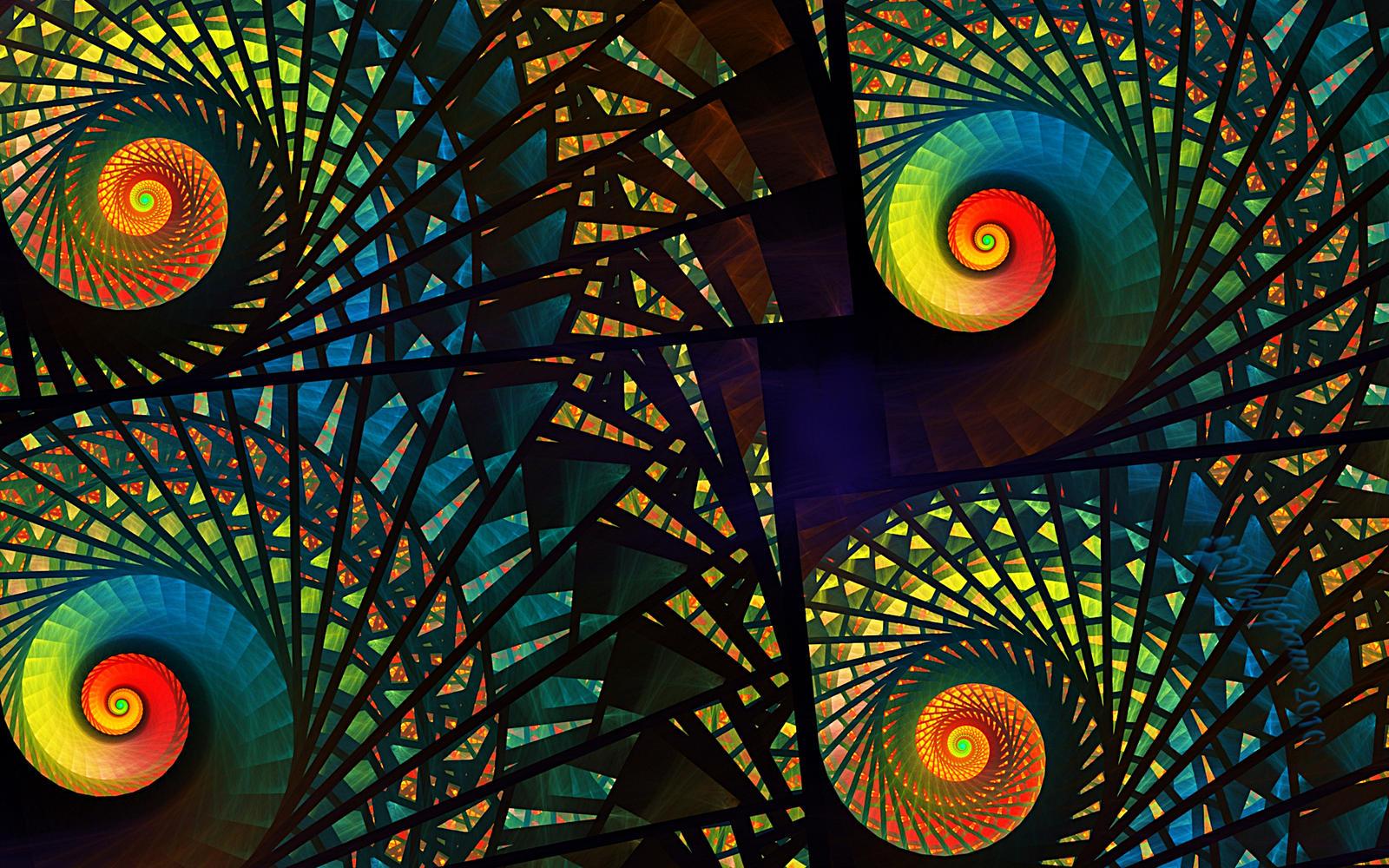 stained glass spirals by wolfepaw on deviantart