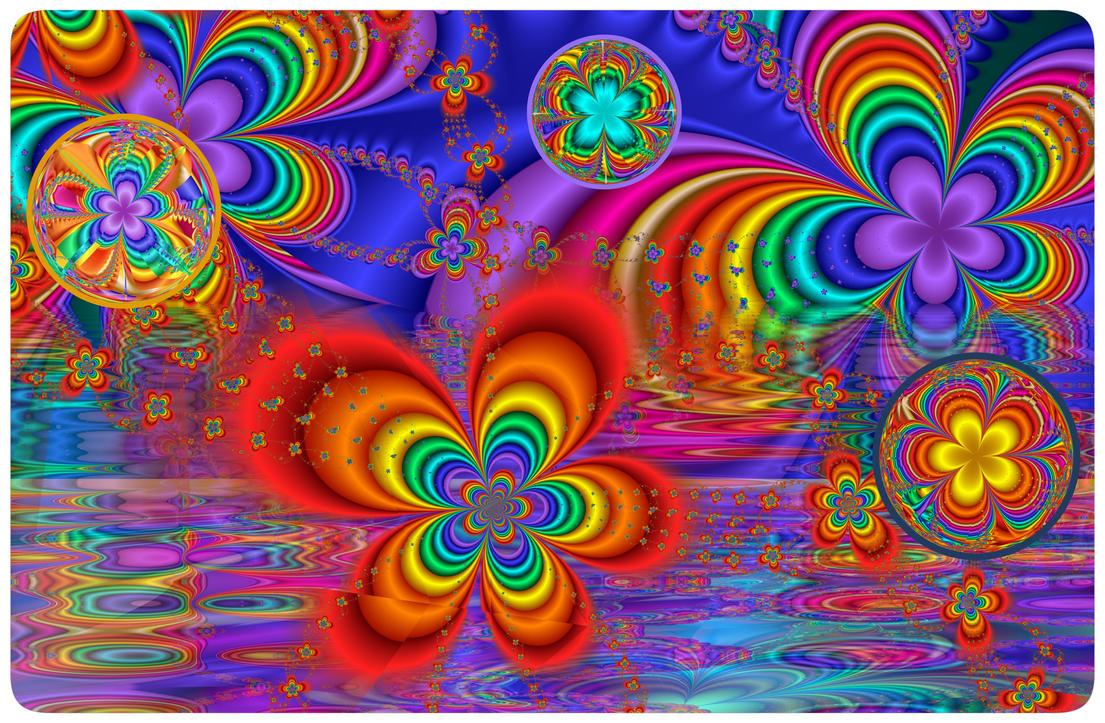 Toshiba Rainbow Flowers By Wolfepaw On Deviantart