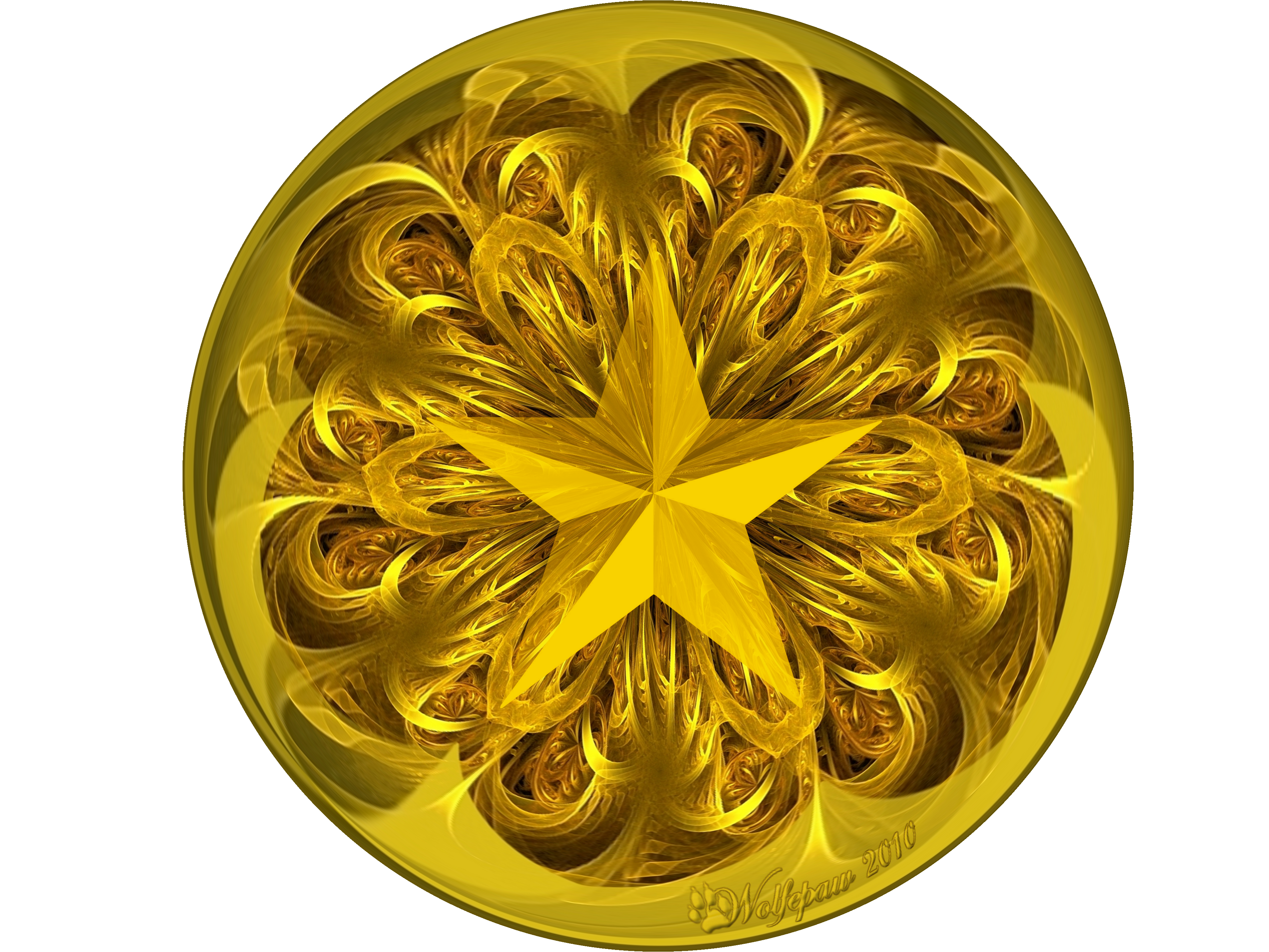 Gold star ornaments - Gold Star Ornament By Wolfepaw Gold Star Ornament By Wolfepaw