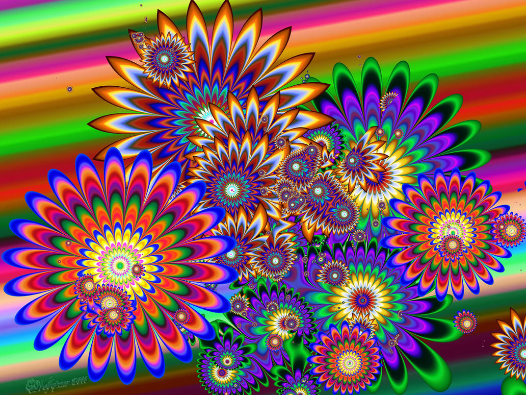 trippy flowers by wolfepaw on deviantart