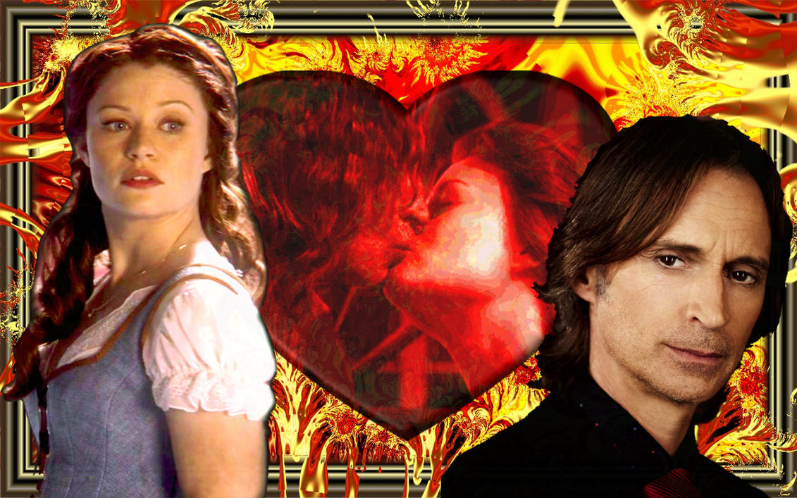 Mr. Gold and Belle Wall by wolfepaw