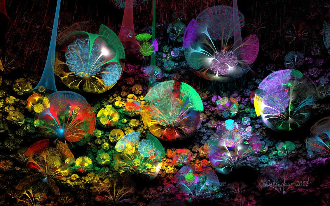 3D Bubble Garden by wolfepaw